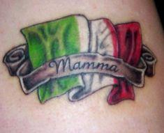 italian flag tattoos for girls | italian flag and text tattoo italian pride tattoo