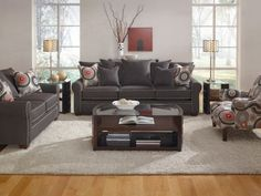 Cameron Charcoal Sofa - American Signature Furniture