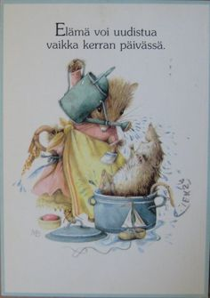 "Marjolein Bastin- Vera the Mouse-""Bath Time."""