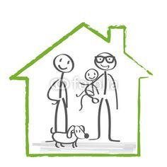 Hausbau, Baufinanzierung, Familie
