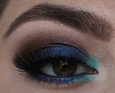 Beautiful blue make up - photo tutorial