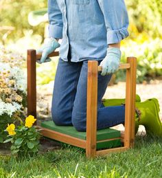 USA-Made Cedar Garden Kneeler Seat.  ~Big B can make this for me to match my new cedar raised beds!