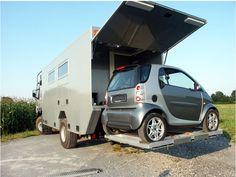 Volvo FM12 4x4 Adventure Camper - Smart ForTwo garage