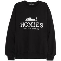 Brian Lichtenberg Homiés cotton-blend jersey sweatshirt (1 570 ZAR) ❤ liked on Polyvore featuring tops, hoodies, sweatshirts, sweaters, shirts, long sleeves, black, black long sleeve top, extra long sleeve shirts and black top