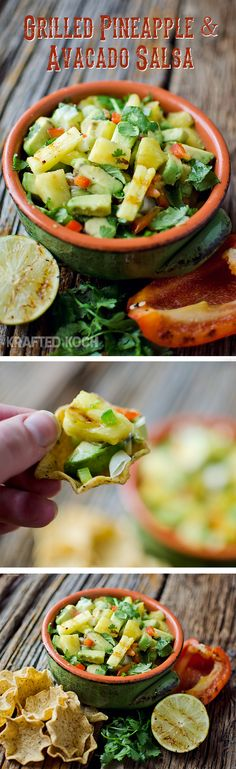 Grilled pineapple  avacado salsa - Krafted Koch