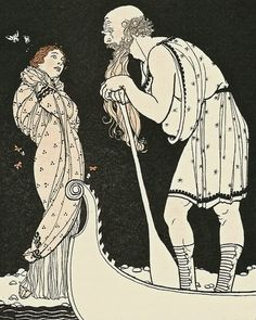 Uncanny Artist has added a new Ephemera Grab Bag - Mythology. This grab bag offers 40 to 50 original vintage and antique images from a variety of mythological traditions. (Seen here: Psyche and Charon from a 1950's children's book).