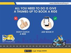 Tap and you're on your way home. The easiest way to book a #ride. Commute smart..!! Download #Bike4Everything #App: