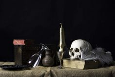 Still Life in the Style of Pieter Claesz with Skull by BlueSoul97, via Flickr