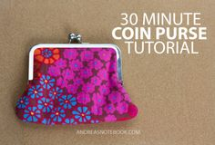 30 Minute Coin Purse Tutorial - Sale! Up to 75% OFF! Shop at Stylizio for women's and men's designer handbags, luxury sunglasses, watches, jewelry, purses, wallets, clothes, underwear