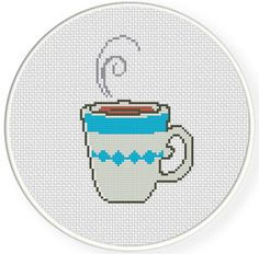 Morning Coffee Cross Stitch Pattern