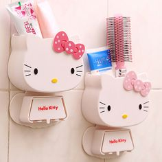 1 PC Multifunction Cartoon Toothbrush Holder Hello Kitty Storage Box Bathroom Accessories Paste Container For Bathroom C0 //Price: $20.73 & FREE Shipping //     #hashtag3