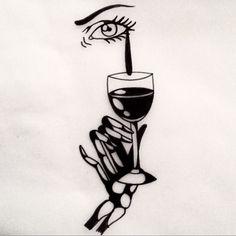 Your Pain is my wine j'aimerais tatouer ça à Genève cette semaine : danslamaisonnoire@gmail.com by johnnygloom