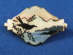 Brooch Enamel on Sterling Norway Early to Mid 20th Century | eBay