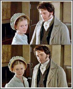 Emilia Fox (Georgiana Darcy) & Colin Firth (Mr. Fitzwilliam Darcy) - Pride and Prejudice (TV Mini-Series, BBC, 1995) #janeausten