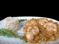 Di pasta impasta: Nodi di pollo allo spumante con cipolla e riso pil...