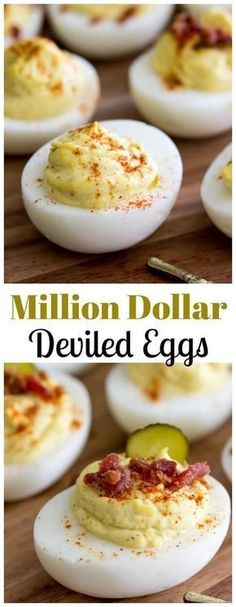 Million Dollar Deviled Eggs! The BEST Deviled Eggs made with a secret ingredient!! via @sugarspunrun Finger Food Appetizers, Appetizers For Party, Appetizer Recipes, Salad Recipes, Deviled Egg Dip, Paleo Deviled Eggs, Deviled Egg Recipe With Sugar, Deviled Eggs Recipe With Vinegar, Simple Deviled Eggs