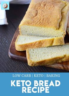 Finding It Hard To Give Up Carbohydrates? This Keto Bread Makes The Switch Much Easier, Easily Being Able To Still Have Sandwiches And Toast. By means of Fatforweightlos Gourmet Recipes, Low Carb Recipes, Bread Recipes, Dessert Recipes, Cooking Recipes, Atkins Recipes, Breakfast Recipes, Dinner Recipes, Best Low Carb Bread