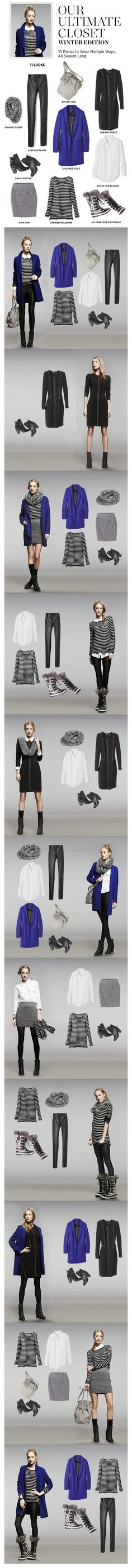 Great inspiration for a winter travel wardrobe.