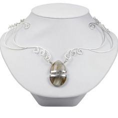 Mended Heart - all sterling silver with a broken quartz