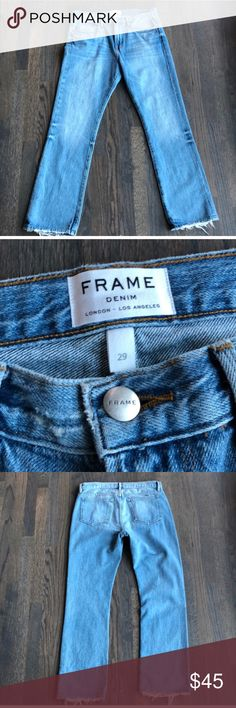 FRAME Denim boyfriend jeans Sz 29 Super slouchy chic, I love these but they run a bit big so re-poshing! Frame Denim Jeans Boyfriend