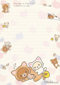 "https://flic.kr/p/v6FhMh | San-X Rilakkuma ""Cat"" Letter Memo #1"