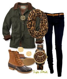 Parka Season! by xipiamin on Polyvore featuring polyvore, fashion, style, L.L.Bean, MICHAEL Michael Kors, BaubleBar and Michael Kors