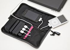 Aviiq Portable Charging Station gives juice to your USB-chargable devices + keeps cables organized for travel. Great for #iPad + #iPhone.