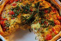 Paradicsomos-darált húsos quiche | NOSALTY – receptek képekkel