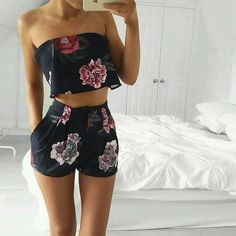 Silk Floral Two Piece