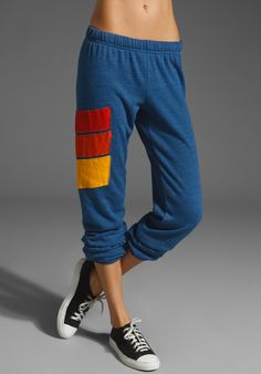 AVIATOR NATION Sport Vintage Sweatpant in Royal Blue at Revolve Clothing - Free Shipping!