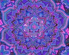 Mandala blauw paars