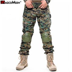 Survival Tactical Gear Men's Airsoft Wargame Tactical Pants with Knee Protection System & Air Circulation System Hunting Pants, Hunting Clothes, Airsoft, Military Pants, Military Army, Combat Pants, Tactical Pants, Survival, Printed Sweatshirts