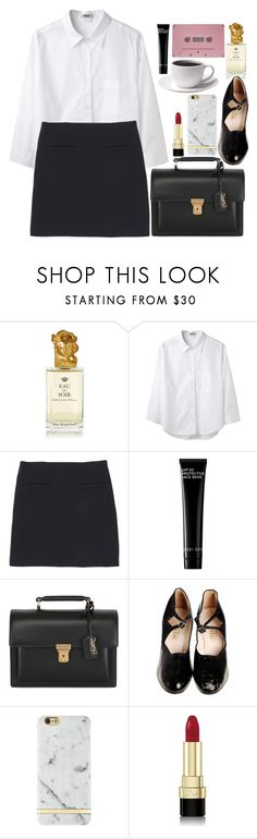 """""""An American In Paris"""" by karris-thomson ❤ liked on Polyvore featuring Sisley, Acne Studios, Uniqlo, CASSETTE, Bobbi Brown Cosmetics, Yves Saint Laurent, Richmond & Finch and Dolce&Gabbana"""