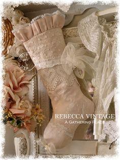 2014 Heart Crochet Christmas Stocking - Christmas Stockings - A Gathering Place