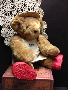 Vermont Teddy Bear  Ann by AnnsAntiqueTreasures on Etsy, $24.99