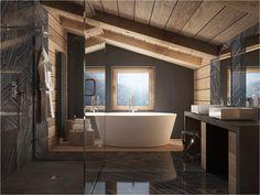 Na poddaszu, także można urządzić niesamowite wnętrze łazienki !