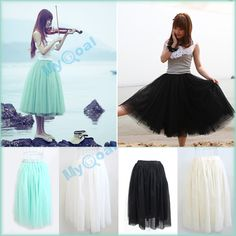 5 Layers Tulle Skirt $10 I bought this is in green. It's awesome!