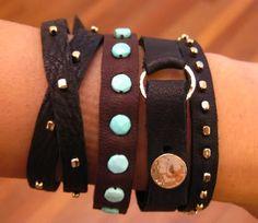 Metier: This Just In: Renee Garvey Agate Necklace, Gemstone Earrings, Smokey Topaz, Lemon Quartz, Garnet Rings, Rutilated Quartz, Green Tourmaline, Leather Bracelets, Rose Cut Diamond