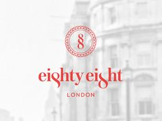 eighty eight logo whitered 35 Minimally Minimal Logos | Inspiration