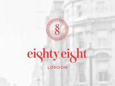 eighty eight logo whitered 35 Minimally Minimal Logos | Inspiration