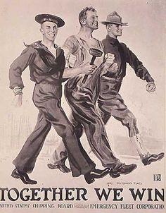 18x24 Tragic WW2 Vintage Poster The Five Sullivan Brothers