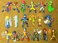 Perler Bead: X-Men by thewiredslain on deviantart