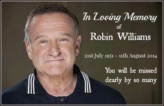 In loving memory of Robin Willians