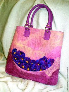 """Валяная сумка """"Мечты о весне"""" - валяная сумка,сумка валяная,весенняя сумка"""
