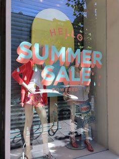 ESCAPARATE PROMOCIONAL.Summer SALE Retail Windows, Store Windows, Window Stickers, Window Decals, Window Signage, Shop Signage, Store Window Displays, Merchandising Displays, Showcase Design