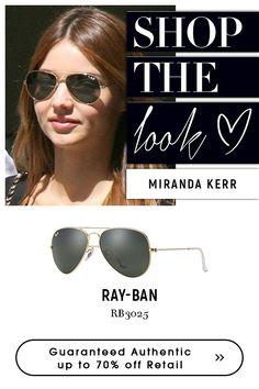 Miranda Kerr | #rayban #black #sunglasses