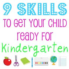 We need to start working on writing with kae!: 9 Skills to Get Your Child Ready for Kindergarten