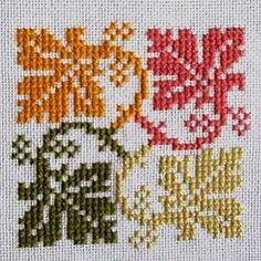Hatice okumuş on Ins Kawaii Cross Stitch, Fall Cross Stitch, Cross Stitch Cards, Cross Stitch Borders, Modern Cross Stitch, Cross Stitch Flowers, Cross Stitch Designs, Cross Stitching, Cross Stitch Embroidery