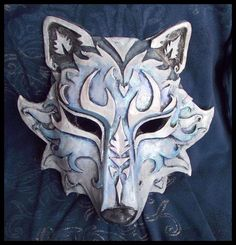 I wasn't happy with a lot of the wolf masks I found on the web, so I decided to try to make one myself. This was actually the first molded mask I ever tried to make, and I still use the mold to make them.: