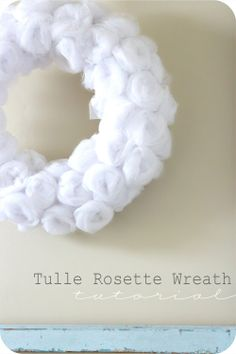 Yet another cute project I need to do from the house of Smiths.  This Tulle Rosette wreath would be cute in just about any color combination too.
